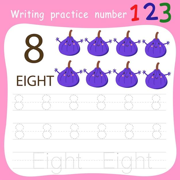 Schreibpraxis nummer acht