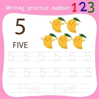 Schreibpraxis nummer fünf