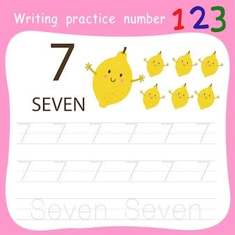 Schreibpraxis nummer sieben