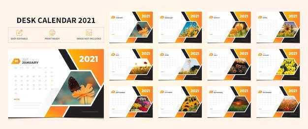 Corporate desk kalender design-vorlage | Premium-Vektor