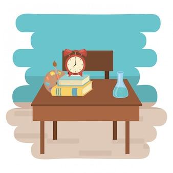Schreibtisch- und schulzubehördesign