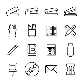 Schreibtischzubehör icons pack