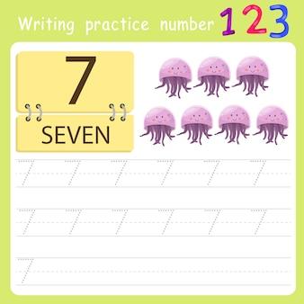Schreibübung nummer sieben