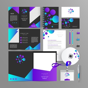 Schreibwaren corporate brand identity mock-set