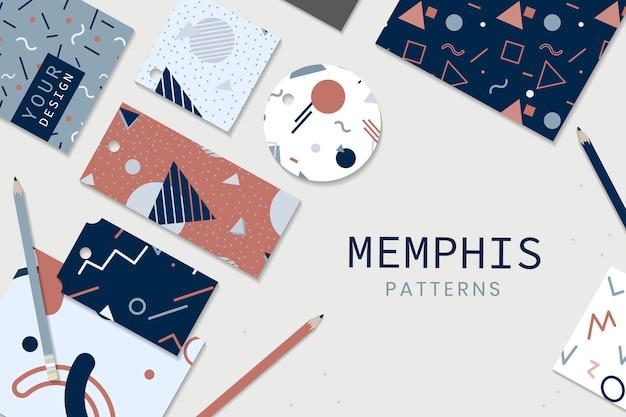 Schreibwaren im memphis-stil