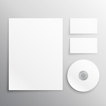 Schreibwaren set einschließlich a4-papier visitenkarte und cd-dvd