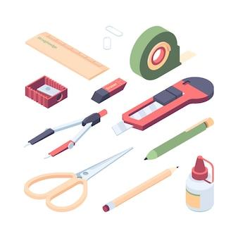 Schreibwaren set set illustration