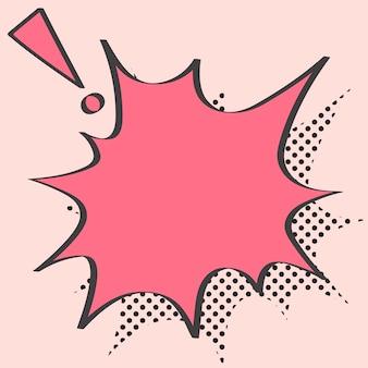 Schreiender sprechblasenvektor im pop-art-stil