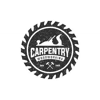 Schreinerei holz arbeiten vintage logo-vorlage