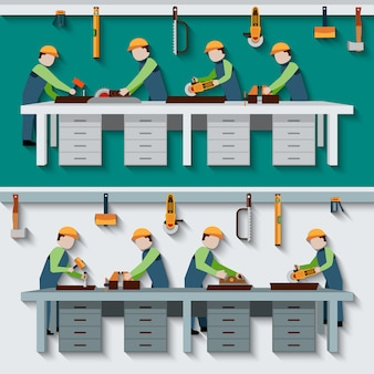 Schreinerei workshop illustration