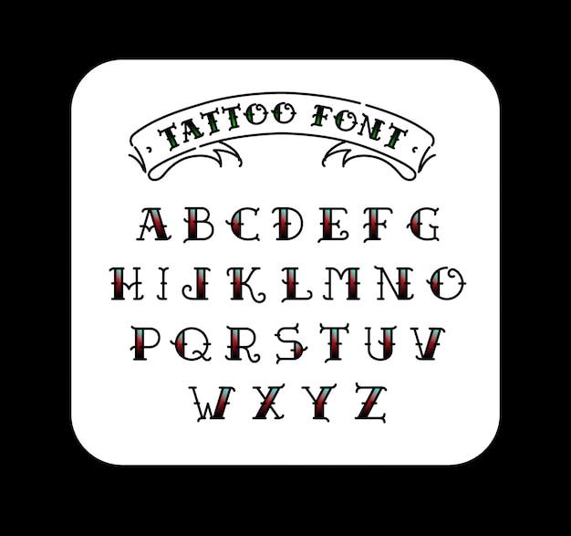 Schrift im stil des old school tattoos