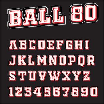 Schriftart 3d sportvektorbuchstaben a bis z.