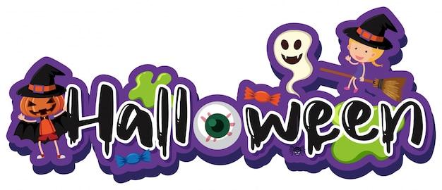 Schriftart für wort halloween