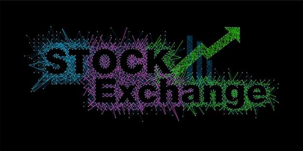 Schriftarten, die die volatilität des börsendiagramms widerspiegeln