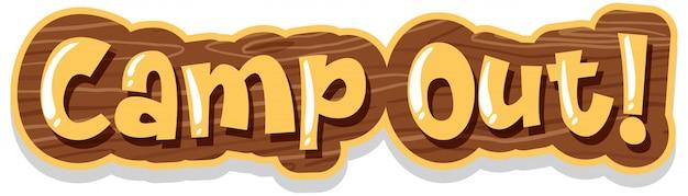 Schriftdesign für word camp out