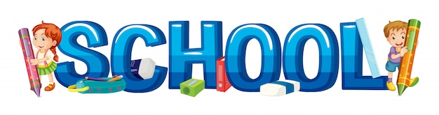 Schriftdesign für wortschule