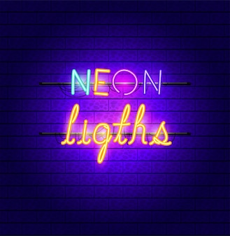 Schriften neonlicht-symbol