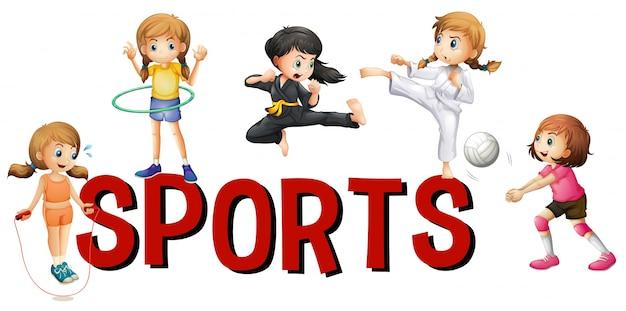 Schriftgestaltung für wort sport