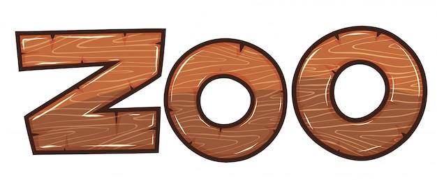 Schriftgestaltung für wort zoo