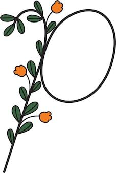Schriftgestaltung in form von blumen geeignet zum erstellen von logos oder zum unterrichten von kindern