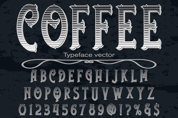 Schriftkennzeichnung design kaffee