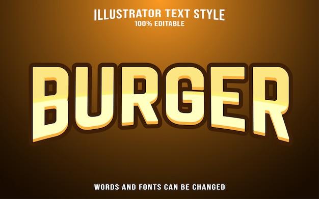 Schrifttextvorlage - burger