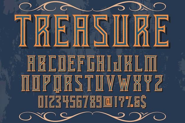 Schrifttypografie-designschatz