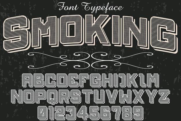 Schrifttypographie-entwurfsrauchen der alten art