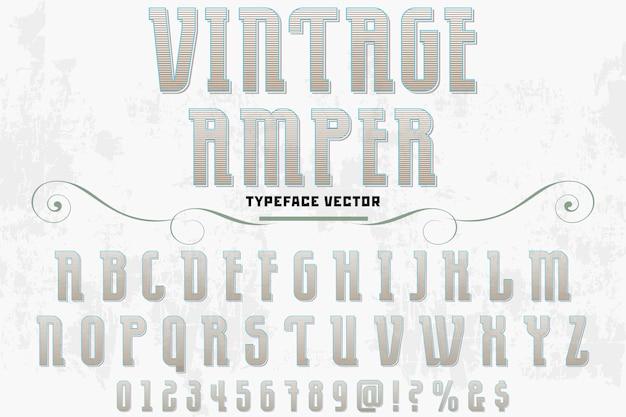 Schriftzug alphabetisch grafikstil vintage ampere