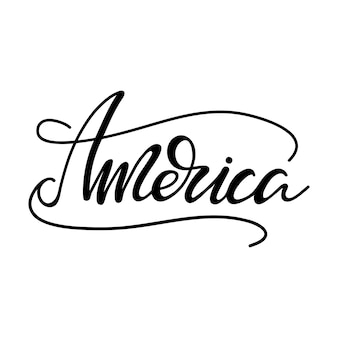 Schriftzug amerika. vektor-illustration.