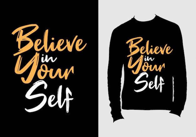 Schriftzug anführungszeichen. hand gezeichnetes typografiet-shirt design