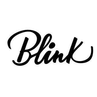 Schriftzug blink. vektor-illustration.
