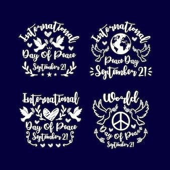 Schriftzug day of peace design collection