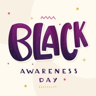 Schriftzug des schwarzen bewusstseins-tages