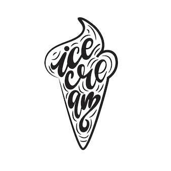 Schriftzug eiscreme. vektor-illustration.