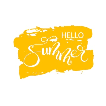 Schriftzug hallo sommer. vektor-illustration.