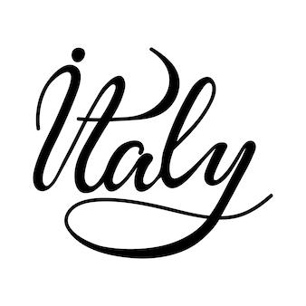 Schriftzug italien. vektor-illustration.