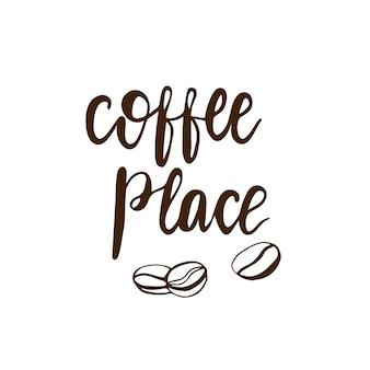 Schriftzug kaffee. vektor-illustration.