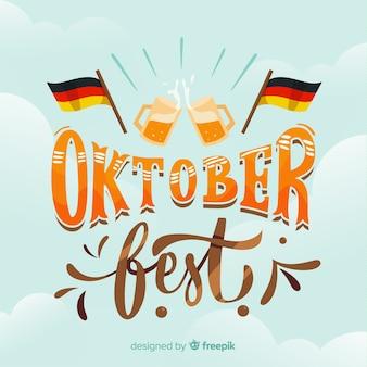 Schriftzug oktoberfest hintergrund