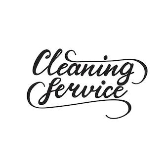 Schriftzug reinigungsservice. vektor-illustration.