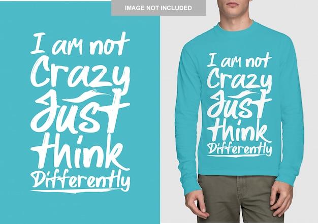 Schriftzug shirt design. handgezeichnete typografie