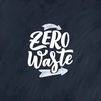 Schriftzug slogan über abfallrecycling.