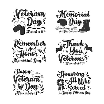 Schriftzug veteranentag sammlung