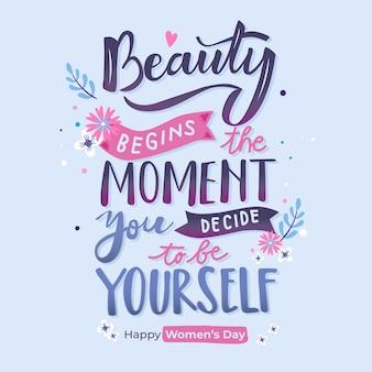 Schriftzug womens day theme