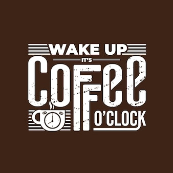 Schriftzug zitat von kaffee im vintage-stil
