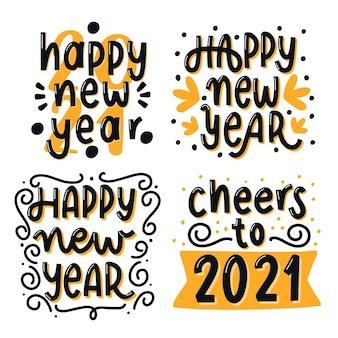 Schriftzugssammlung neujahr 2021