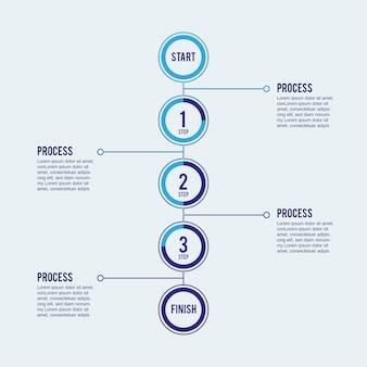 Schritt für schritt infografik