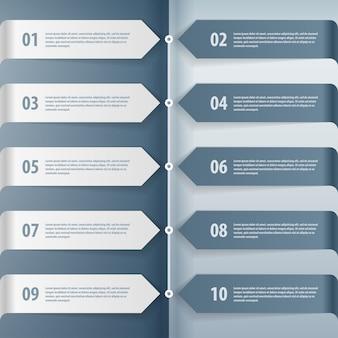 Schritt für schritt infografiken illustration.
