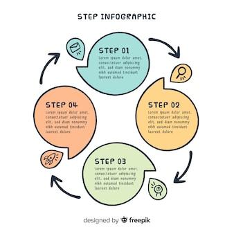 Schritt infografik design