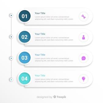 Schritt infografik